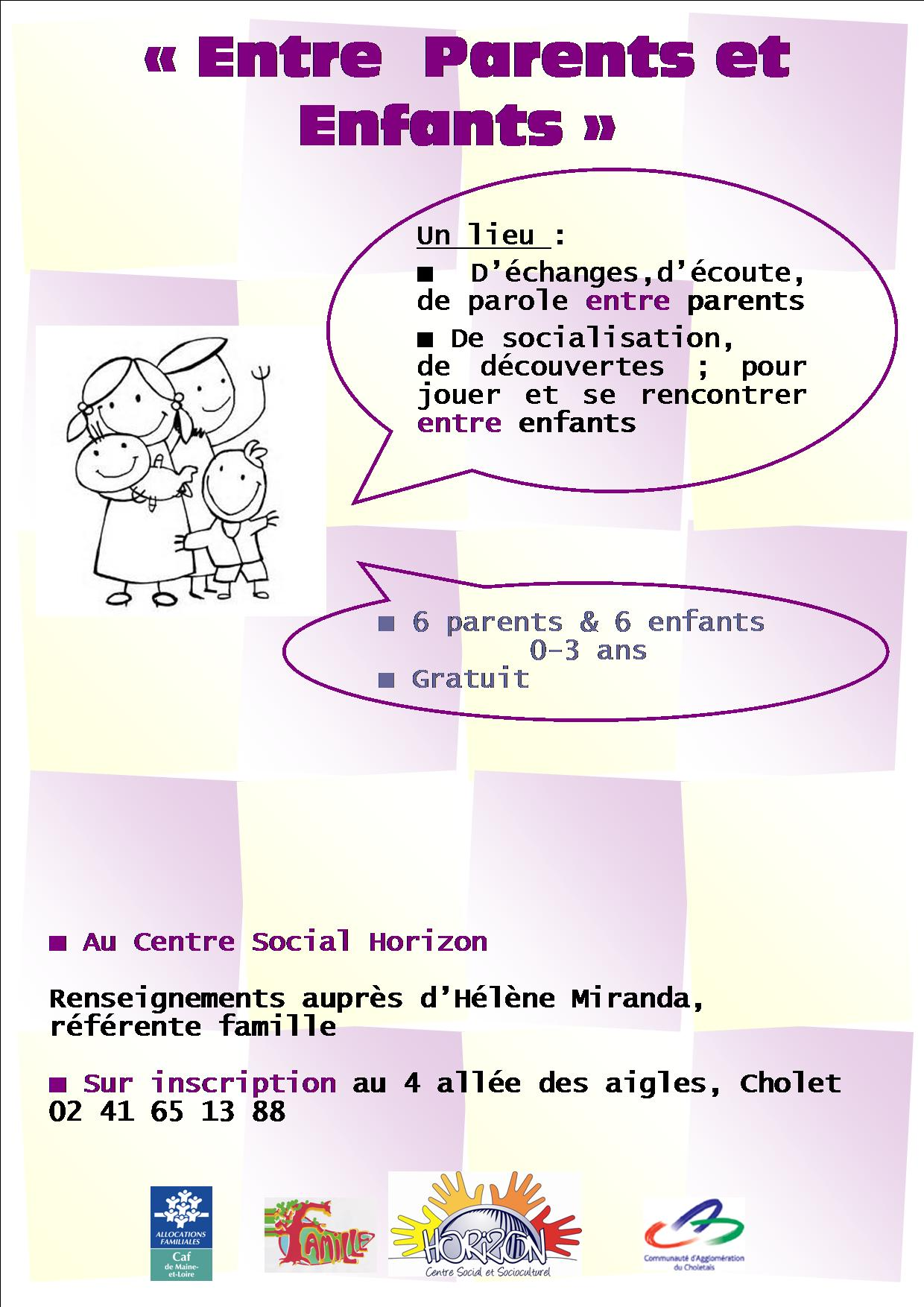 Affiche Entre Parents et Enfants