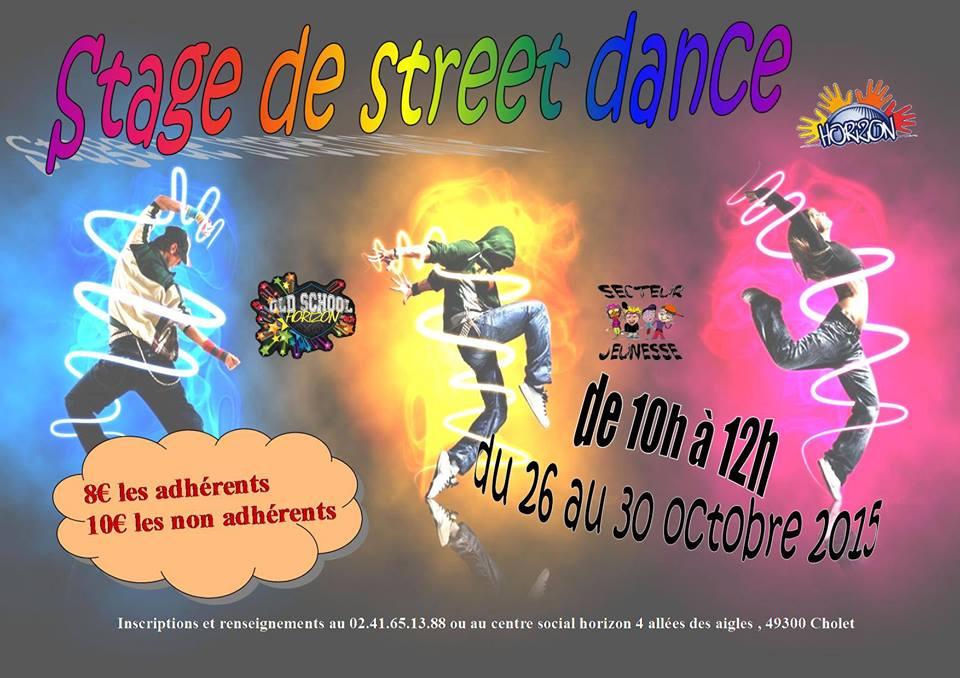 Affiche street dance vacances d'octobre 2015